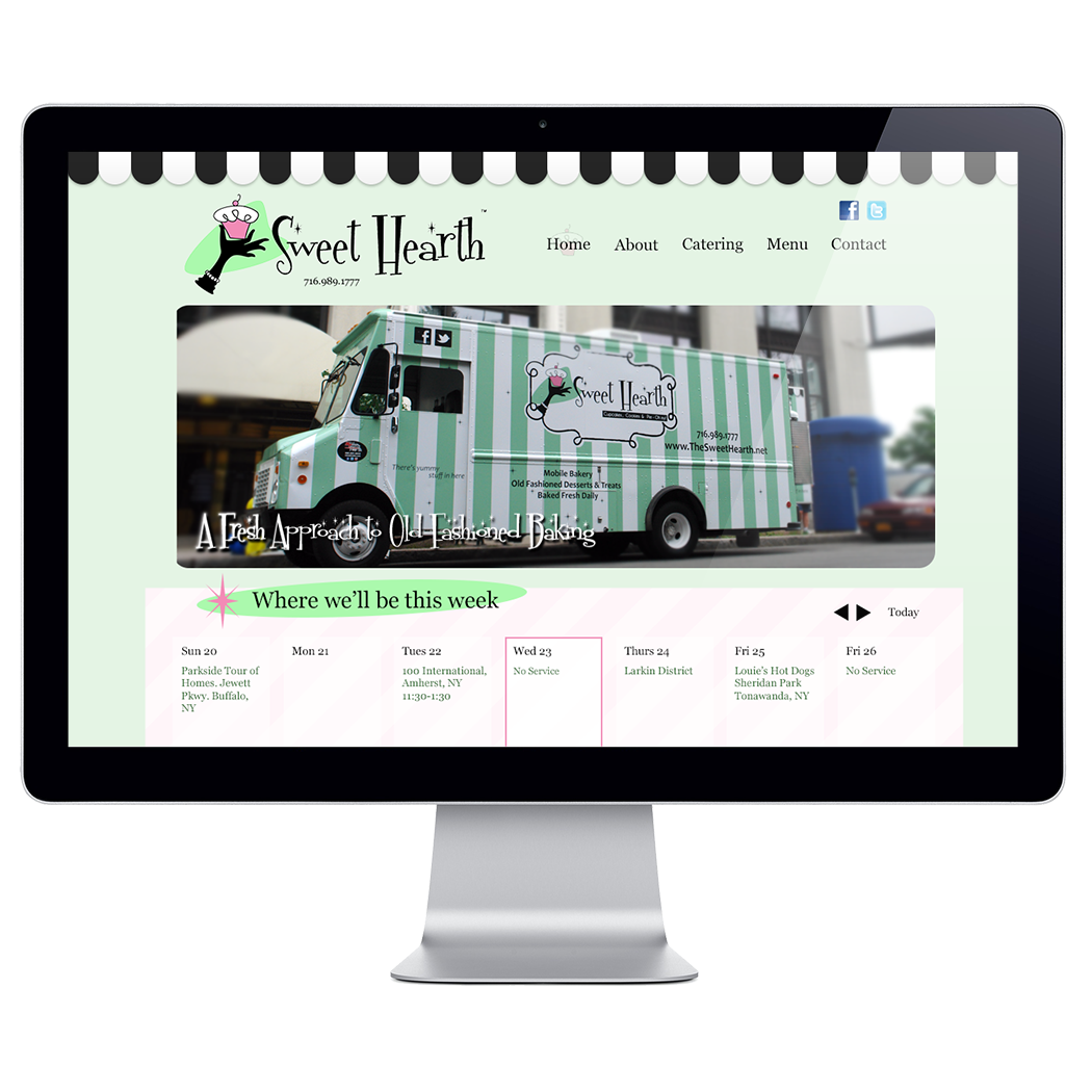 webdesign for The Sweet Hearth Food Truck